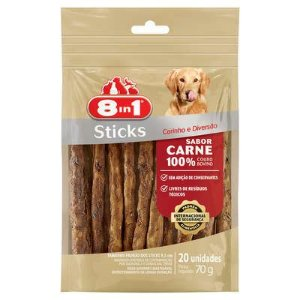 Osso Para Cachorro Petisco 8in1 Sticks Carne