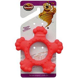 Brinquedos Para Cachorro Disco Maciço Furacão Pet Vermelho