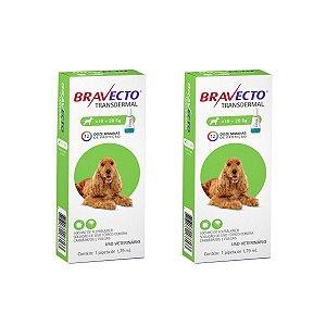 Combo 2 Antipulgas Bravecto 10 a 20kg Transdermal Cães