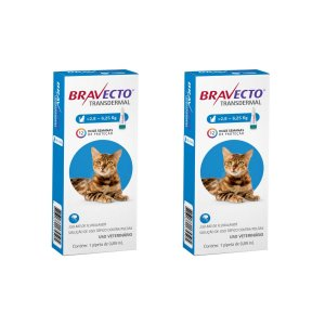Combo 2 Antipulgas Bravecto 2,8 a 6,25kg Transdermal Gatos