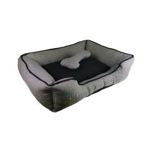 Cama Para Cachorro Rubi Preta M 53 x 67 x 19cm