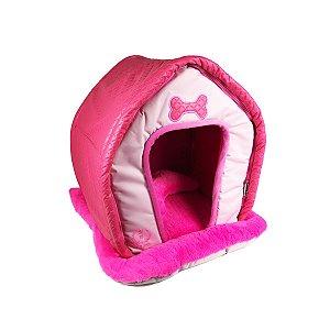 Cama Para Cachorro Matelasse Rosa M 56 x 48 x 52cm