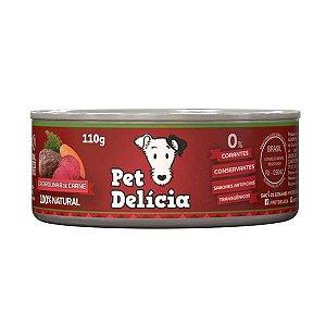 Ração Pet Delícia Caçarolinha de Carne 110g