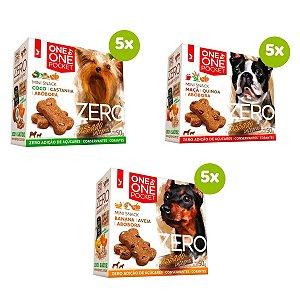 Biscoito Cachorro Mini Snack Spin Pet Combo 15 Unidades de 50g