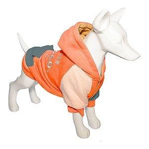 Roupa Cachorro Moletom Woly Orange Au