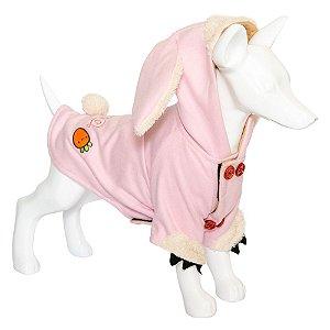 Roupa Cachorro Moletom Coelhinho Rosa Au