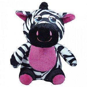 Brinquedo Para Cachorro Mordedor Pelúcia Safári Zebra