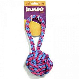 Brinquedos Para Cachorro Bola de Corda Com Alça Grande