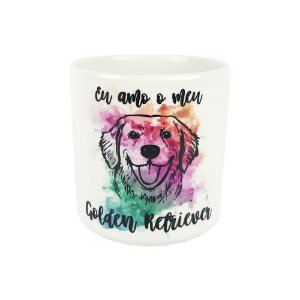Caneca Eu Amo o Meu Golden Retriever Mania Dog