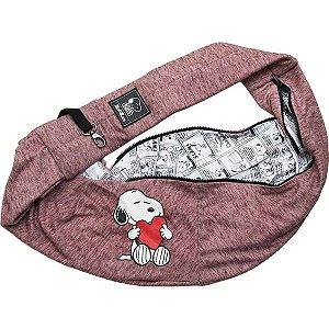 Bolsa Pet Passeio Sling Snoopy Heart Hug