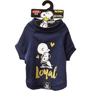 Roupa Cachorro Camiseta Charlie Snoopy Loyal