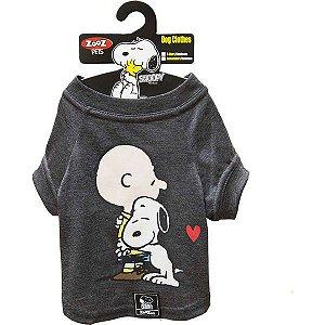Roupa Cachorro Camiseta Charlie Snoopy Hug