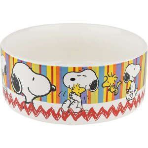 Comedouro Cerâmica Zooz Pets Snoopy Snop2 500ml
