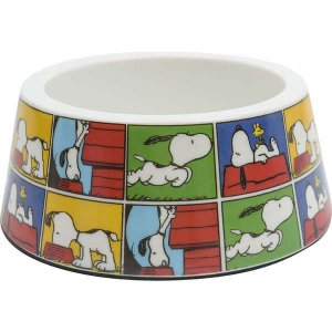 Comedouro Melamina Zooz Pets Snoopy Quadrinho