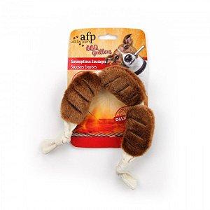 Brinquedo Cachorro Pelúcia Scrumptious Saudages Bbq Afp