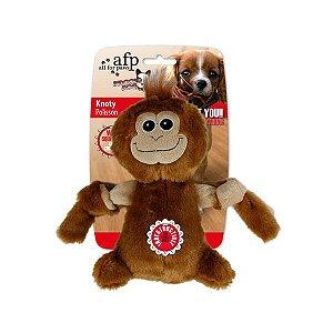Brinquedo Cachorro Pelúcia Knoty Macaco Afp