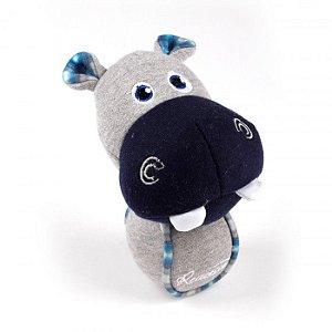 Brinquedo Cachorro Pelúcia Hippo Com Bolinha de Tênis Afp