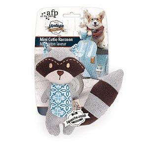 Brinquedo Cachorro Pelúcia Mini Cutie Raccoon Afp