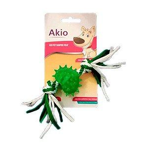 Brinquedo Cachorro Mordedor Coração Com Corda Akio
