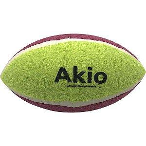 Brinquedo Cachorro Bola de Rugby Tênis Akio
