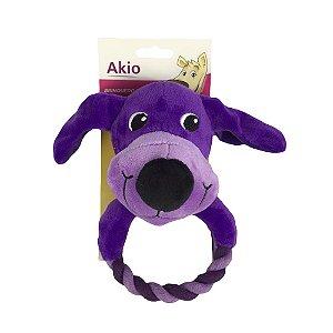 Brinquedo Cachorro Pelúcia Cão Com Corda Akio