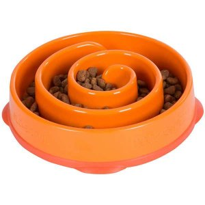 Comedouroo Cachorro Lento Fun Feeder Mini Laranja Pet Trends