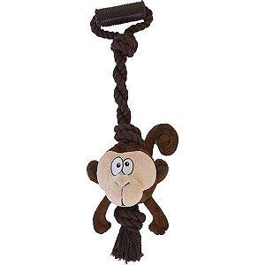 Brinquedo Cachorro Pelúcia Com Corda Tuggerz Macaco