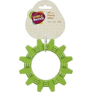 Brinquedo Cachorro Mordedor Roda Com Texturas Verde