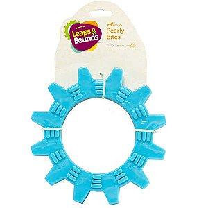 Brinquedo Cachorro Mordedor Roda Com Texturas Azul
