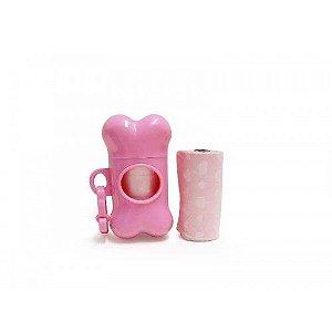Kit Porta Saquinhos Coletores Dois Rolos The Pet´s Rosa