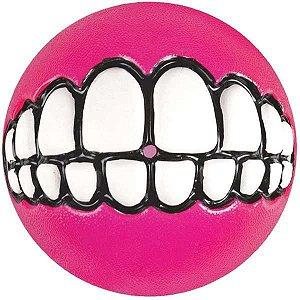 Brinquedo Para Cachorro Bolinha Sorriso Rosa