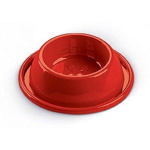 Comedouro e Bebedouro Para Cachorro Anti Formiga Vermelho