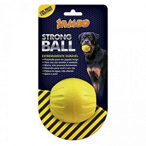 Brinquedo Cachorro Bola Strong Ball Pq Amarela