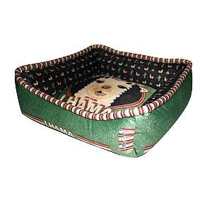 Cama Para Cachorro Lhama M Verde 60x 60x 60cm