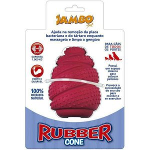 Brinquedo Para Cachorro Rubber Cone Grande Vermelho Jambo