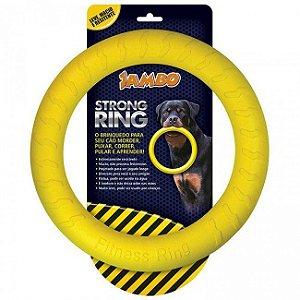 Brinquedo Para Cachorro Anel Ring Strong Amarelo Jambo