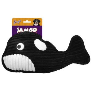 Brinquedo Para Cachorro Pelúcia Tuff Aqua Baleia Jambo