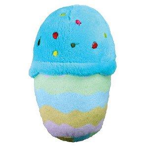 Brinquedo Para Cachorro Mordedor Pelúcia Fofa Bolo Azul Jambo