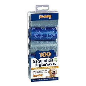 Refil Cata Cáca 5 Rolos Luxo Boy Cinza e Azul Jambo