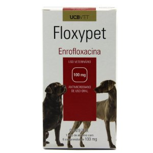 Medicamento Para Cachorro Floxypet Display 5x6X100mg