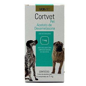 Medicamento Para Cachorro Cortvet 10 Comprimidos de 1mg