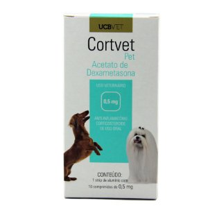 Medicamento Para Cachorro Cortvet Pet Display 5X10X0,5mg