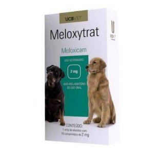 Medicamento Para Cachorro Meloxytrat Display 5X10X2mg