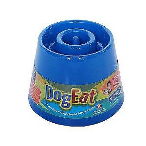 Comedouro Lento Elevado Cachorros Pet Games Azul