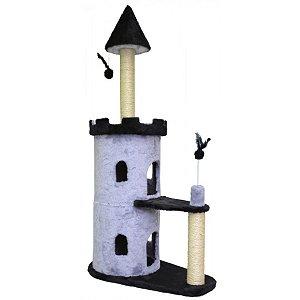 Arranhador Para Gato Castle São Pet Cinza 77x45x160cm