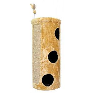 Arranhador Gatos Torre São Pet Bege 46x46x112cm