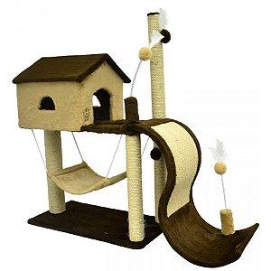 Arranhador Para Gatos House Toboga São Pet 115x35x104cm
