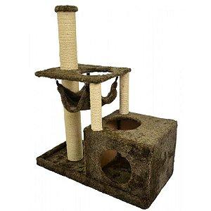 Arranhador Gato Colossus São Pet Marrom 94x44x114cm