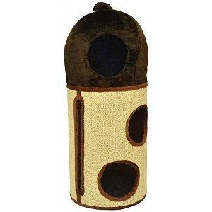Arranhador Para Gatos Hidrante São Pet Marrom 38x38x96cm