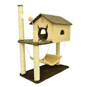 Arranhador Para Gato House São Pet Bege 70x45x89cm
